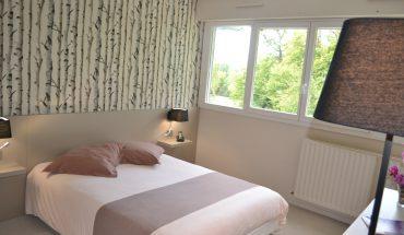 Hôtel de Guyenne Talence chambres grand lit côté parc