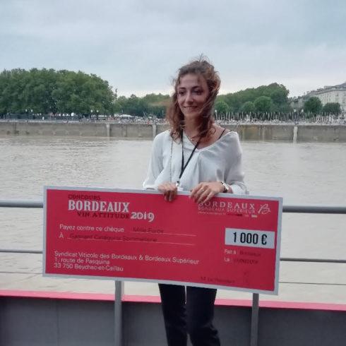 Concours : premier prix de sommellerie Nahia Haristoy
